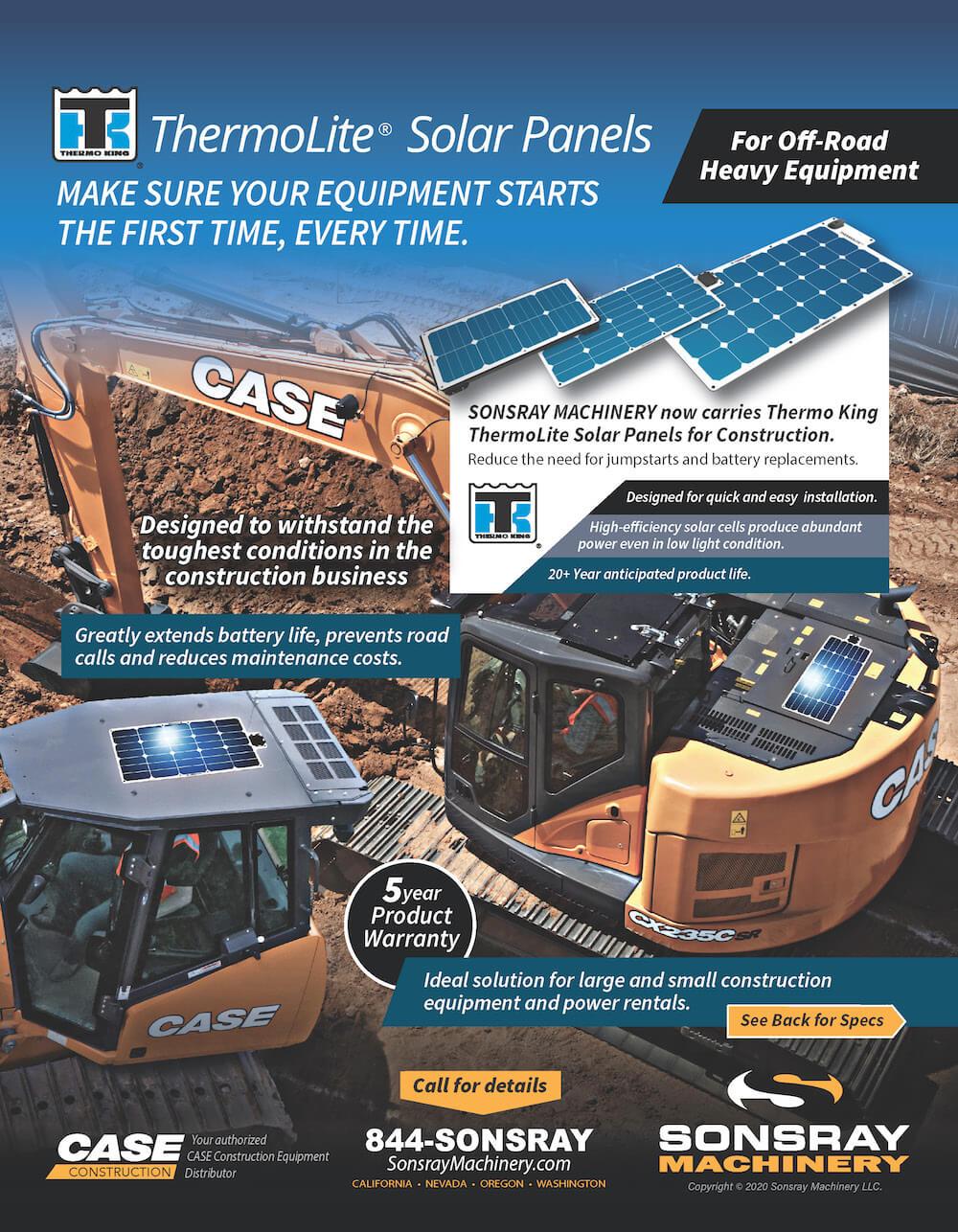 solar panels for heavy equipment