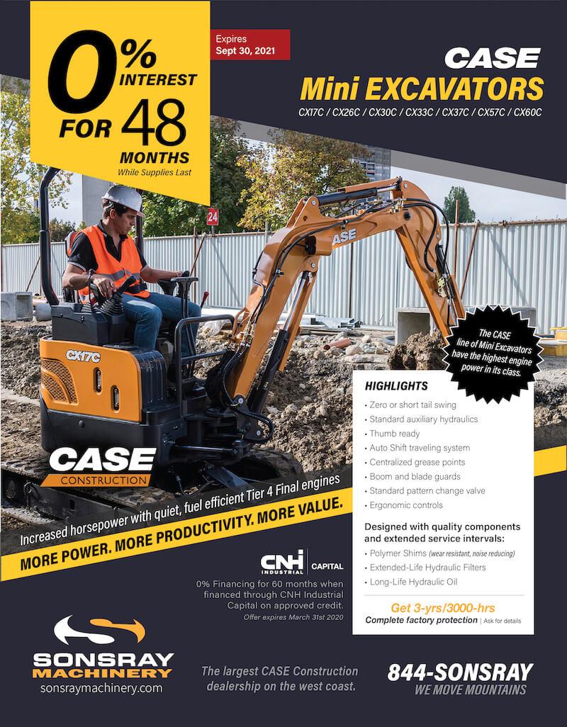 mini excavator discount